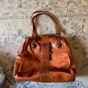 Escada leather shoulder bag Brown